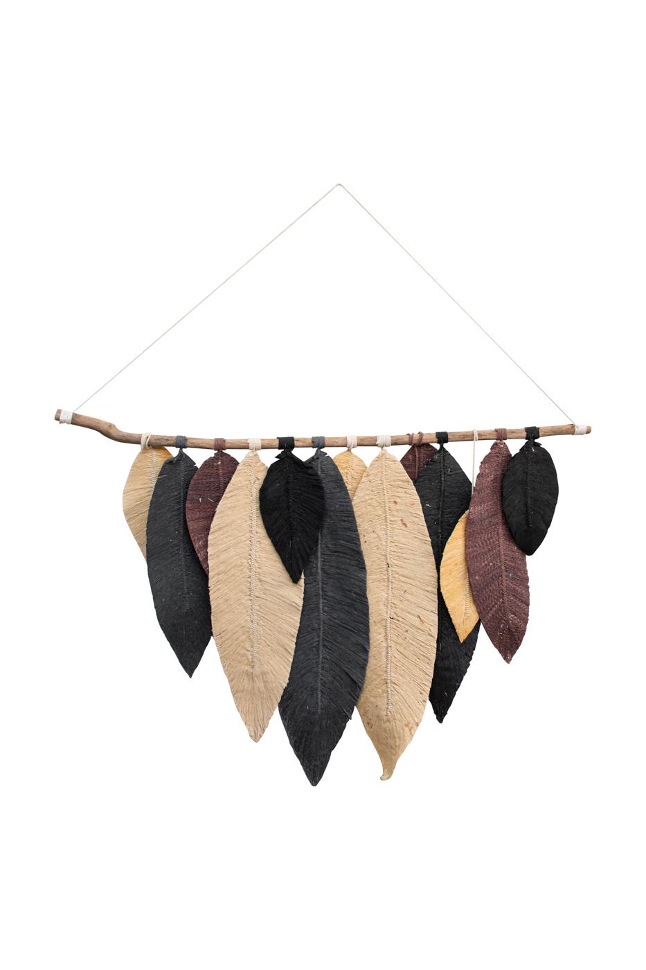 Hojas decorativas colgantes de algodón