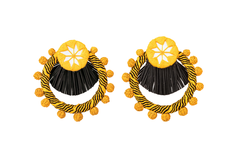 Arete Flamenco amarillo-negro