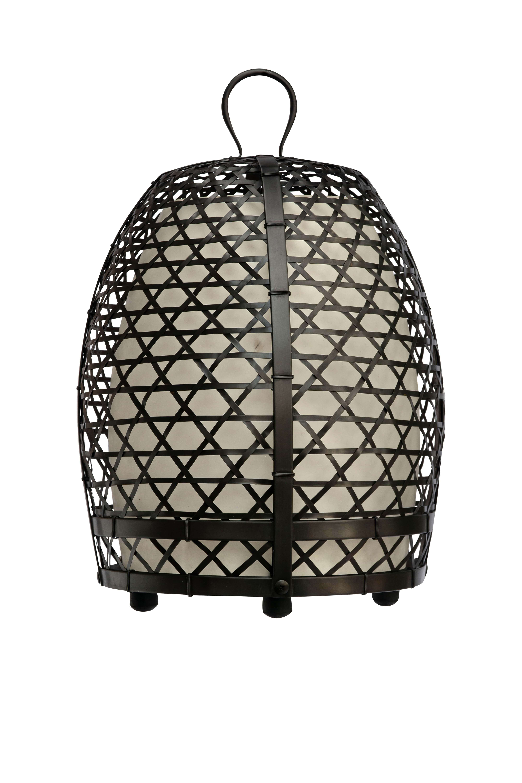 Lámpara jaula de gallo en bronce, 77 Cm