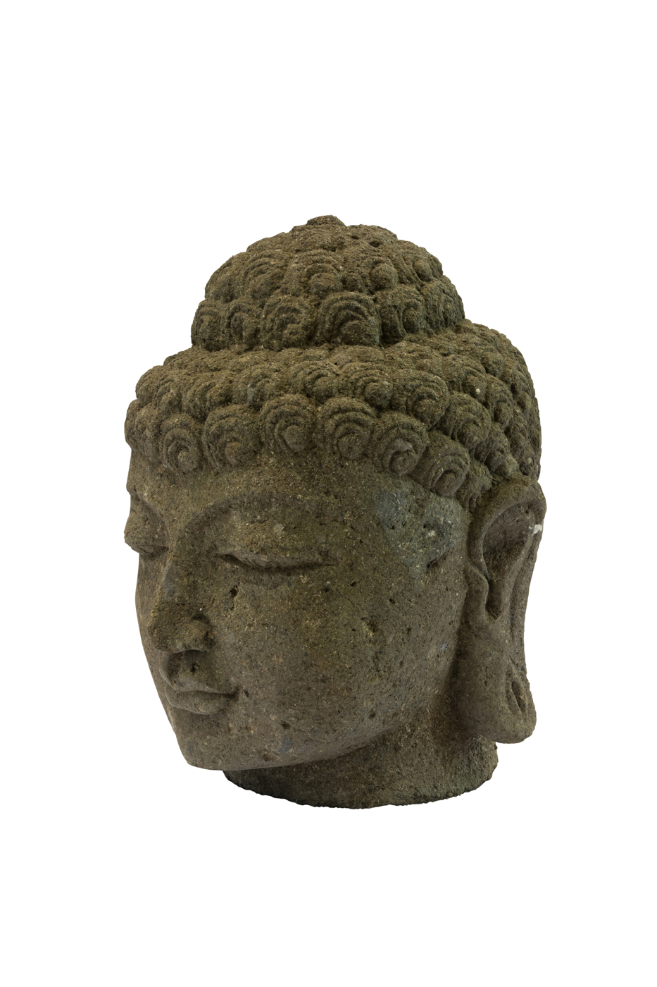 Escultura en piedra Cabeza de Buda