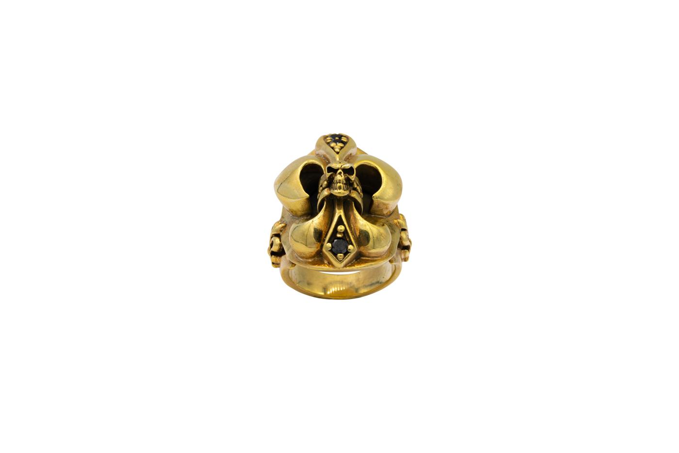 Harley-Davidson Golden Skull Ring