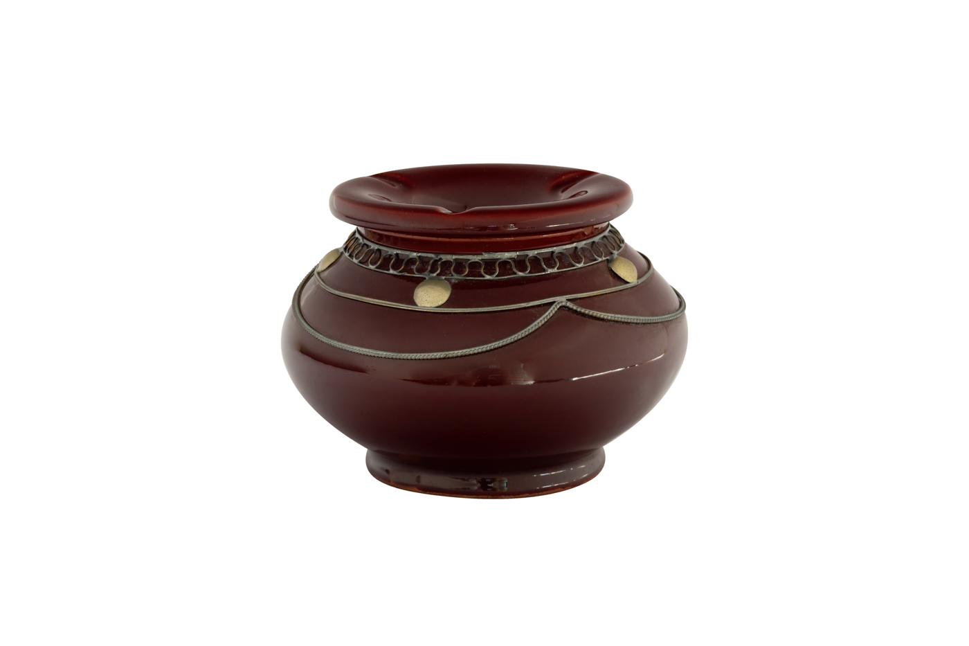 Moroccan ashtray dark red