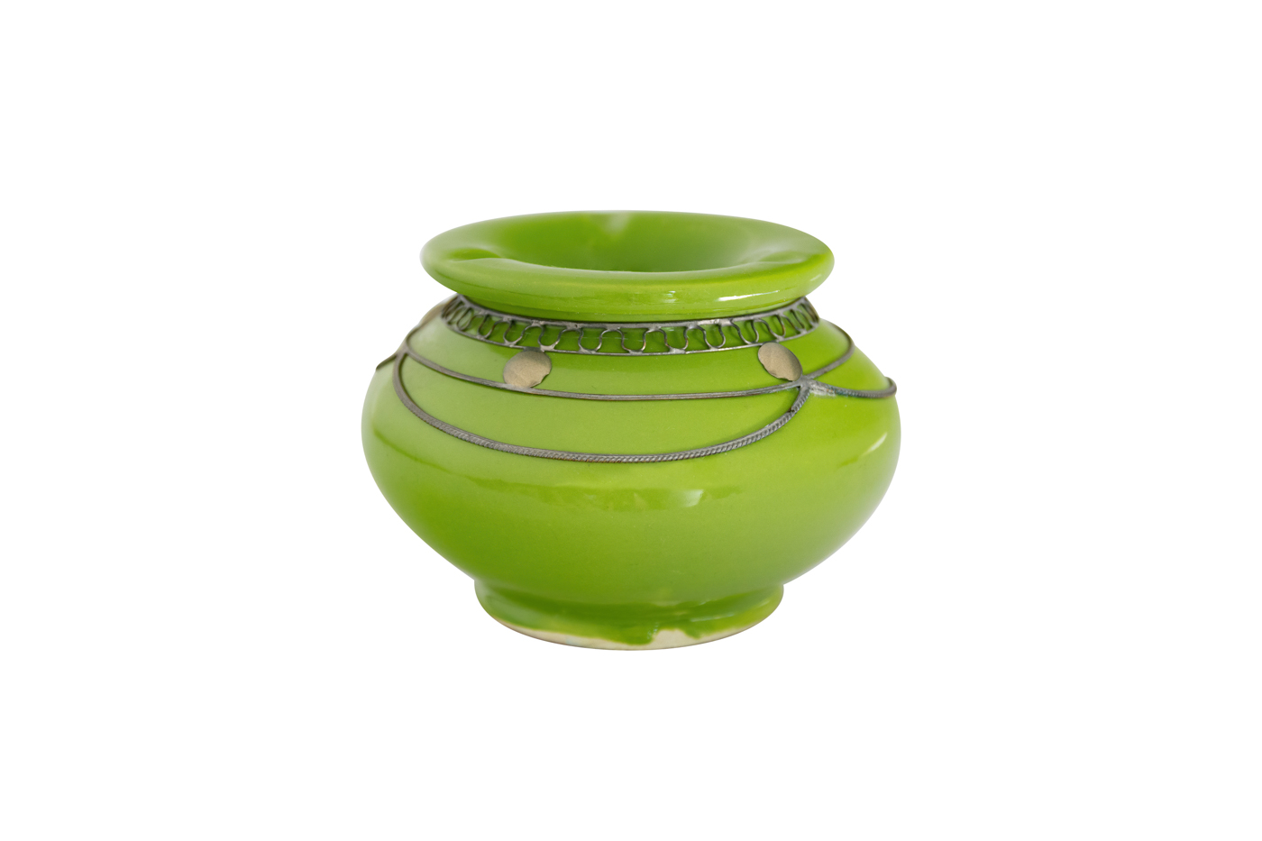 Moroccan ashtray green