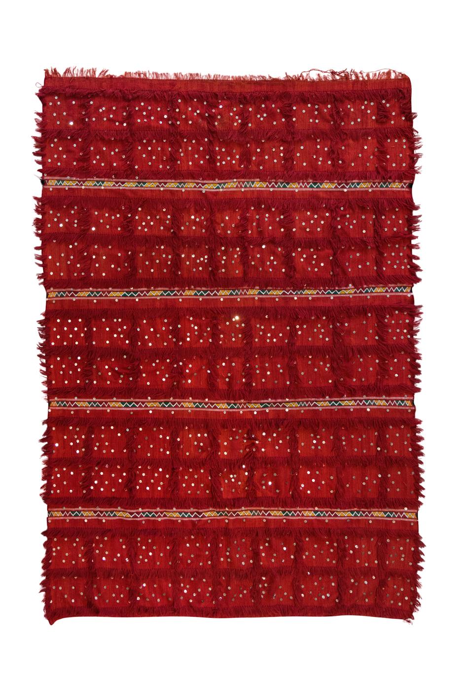 Tapete Marroquí lana y lentejuelas