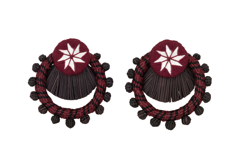 Flamenco earring red wine