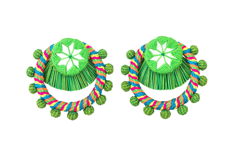 Flamenco earring green