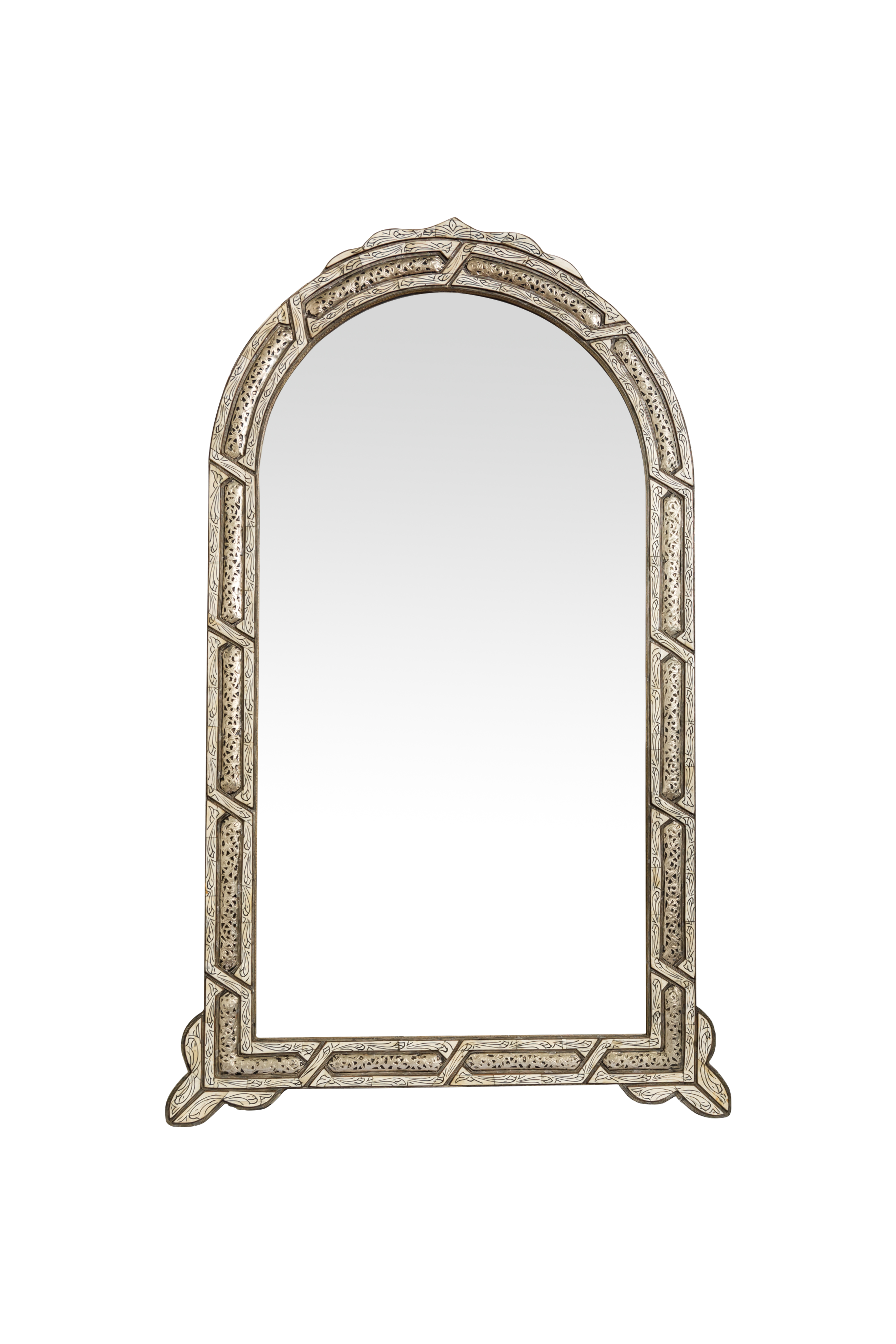 Traditional Moroccan mirror with silver bow