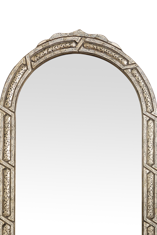Espejo tradicional Marroquí arco plateado