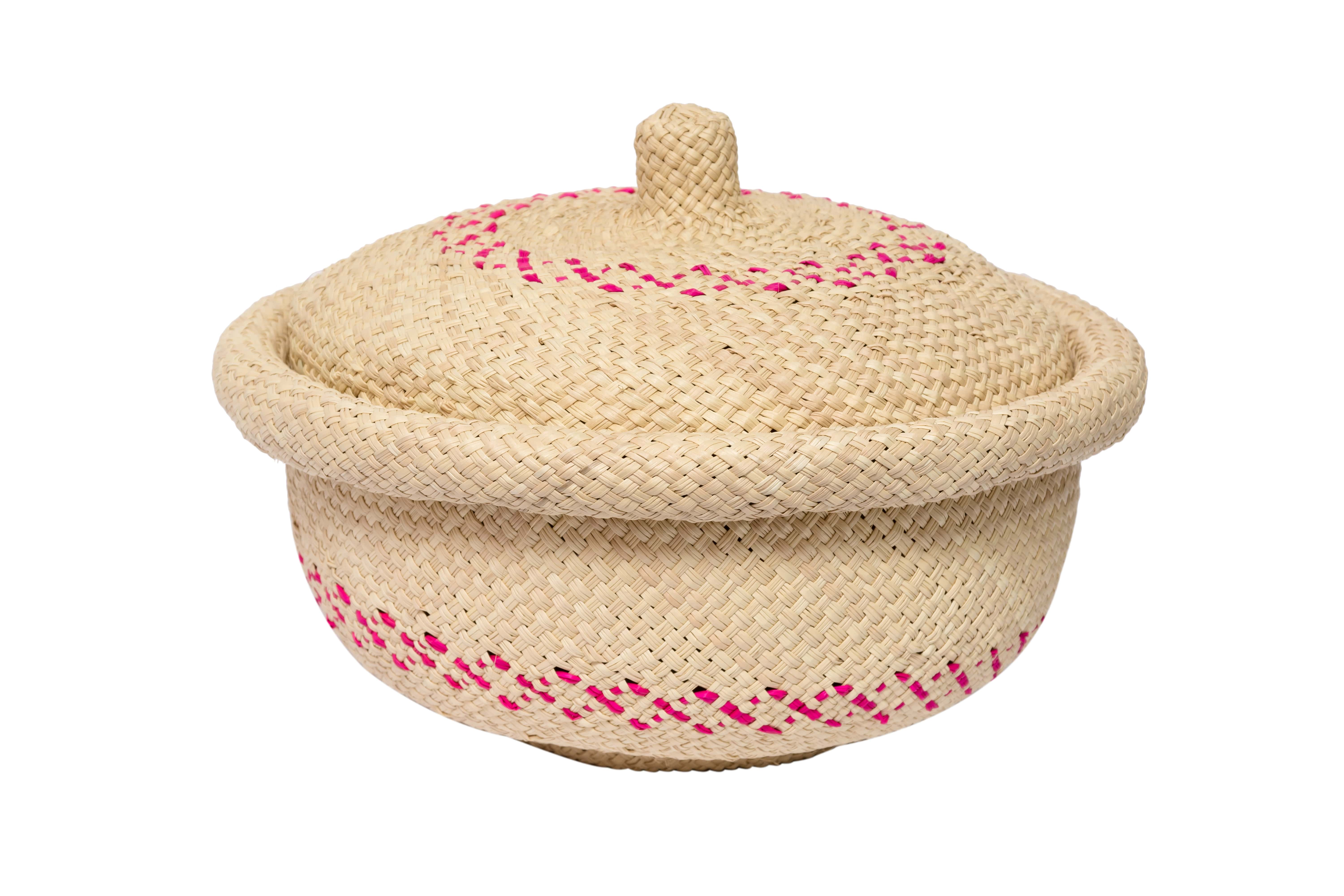 Bread basket in iraca, natural