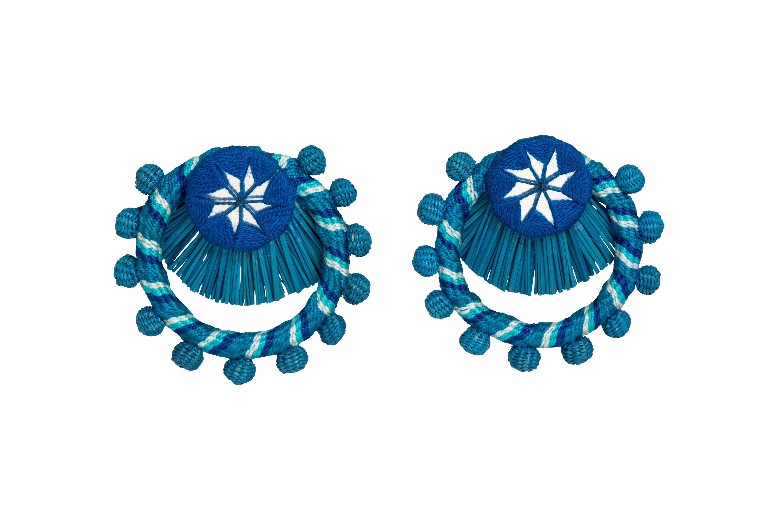 Flamenco earring blue