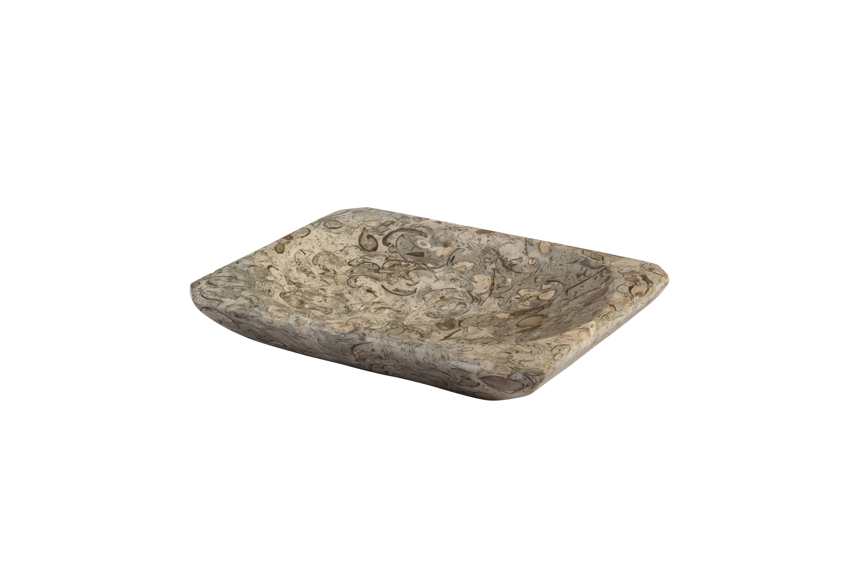 Moroccan grey fossil ashtray