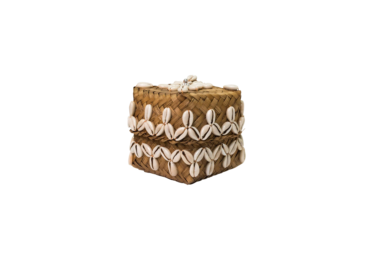 Caja de fibra y caracolitos