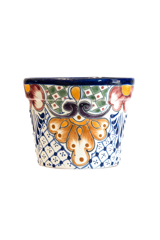 Matera en cerámica Talavera pequeña multicolor