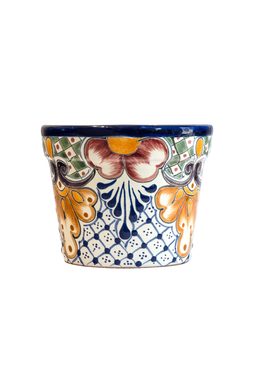 Pot in ceramic Talavera small multicolor