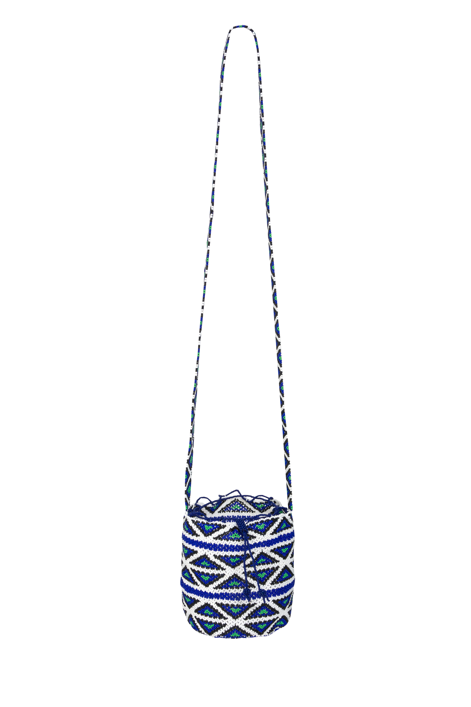 Emberá Katio mustard backpack blue-white