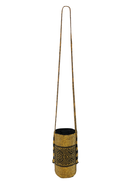 Inga handbag with golden beads
