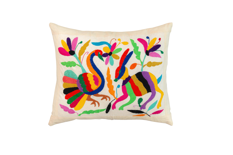 Otomi Peacock Cushion
