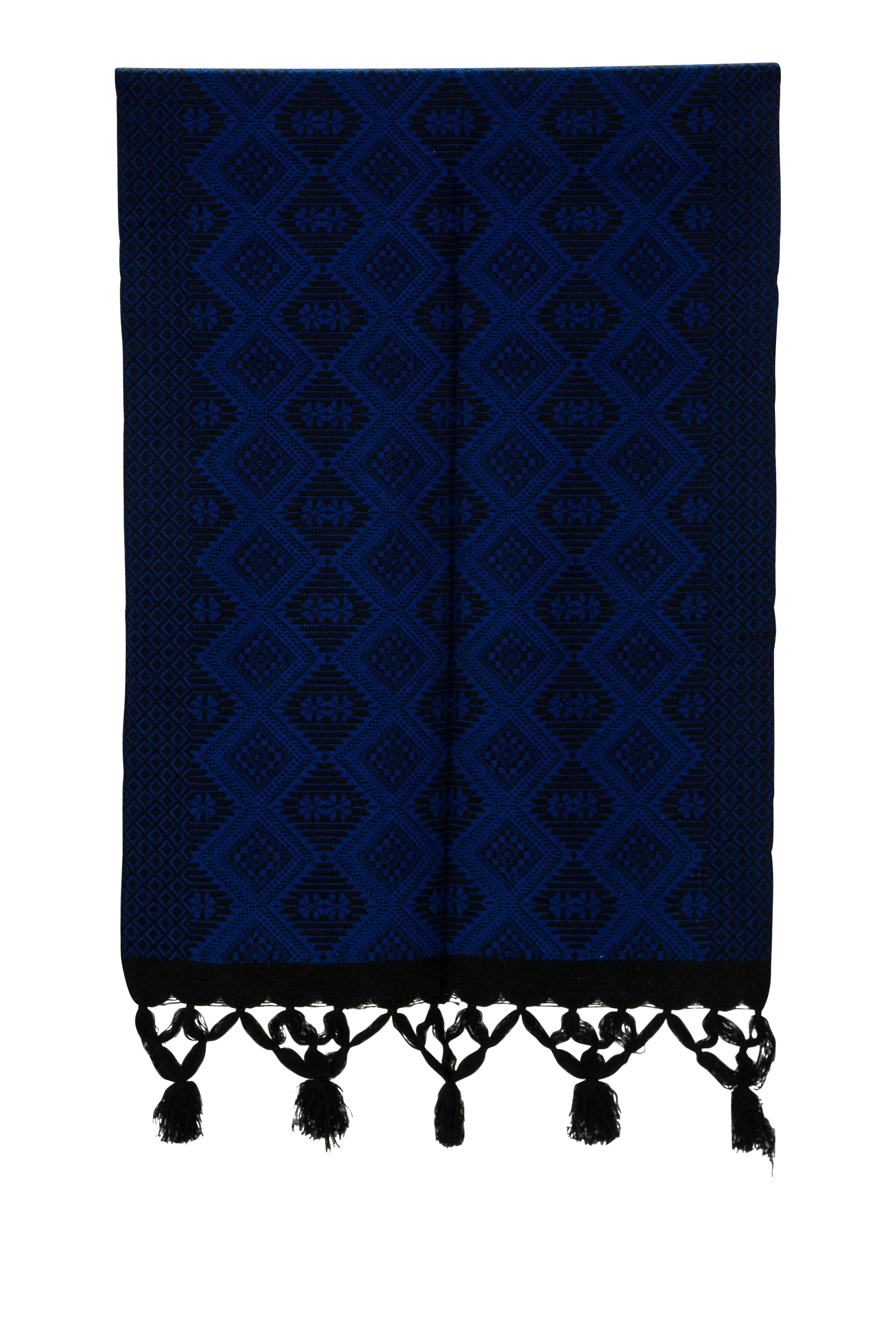 Mexican dark blue loom fabric