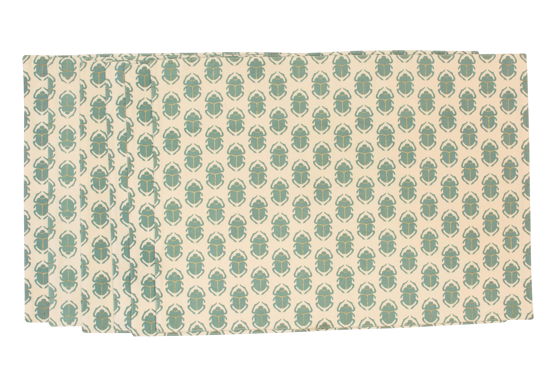 Set X6 individuales en algodón Egipcio