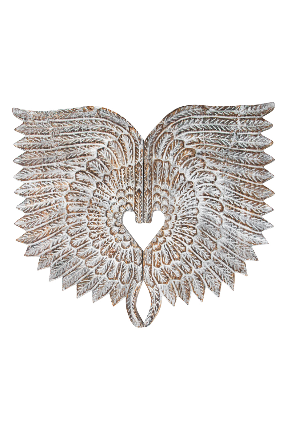 Decorative wings carved in wood