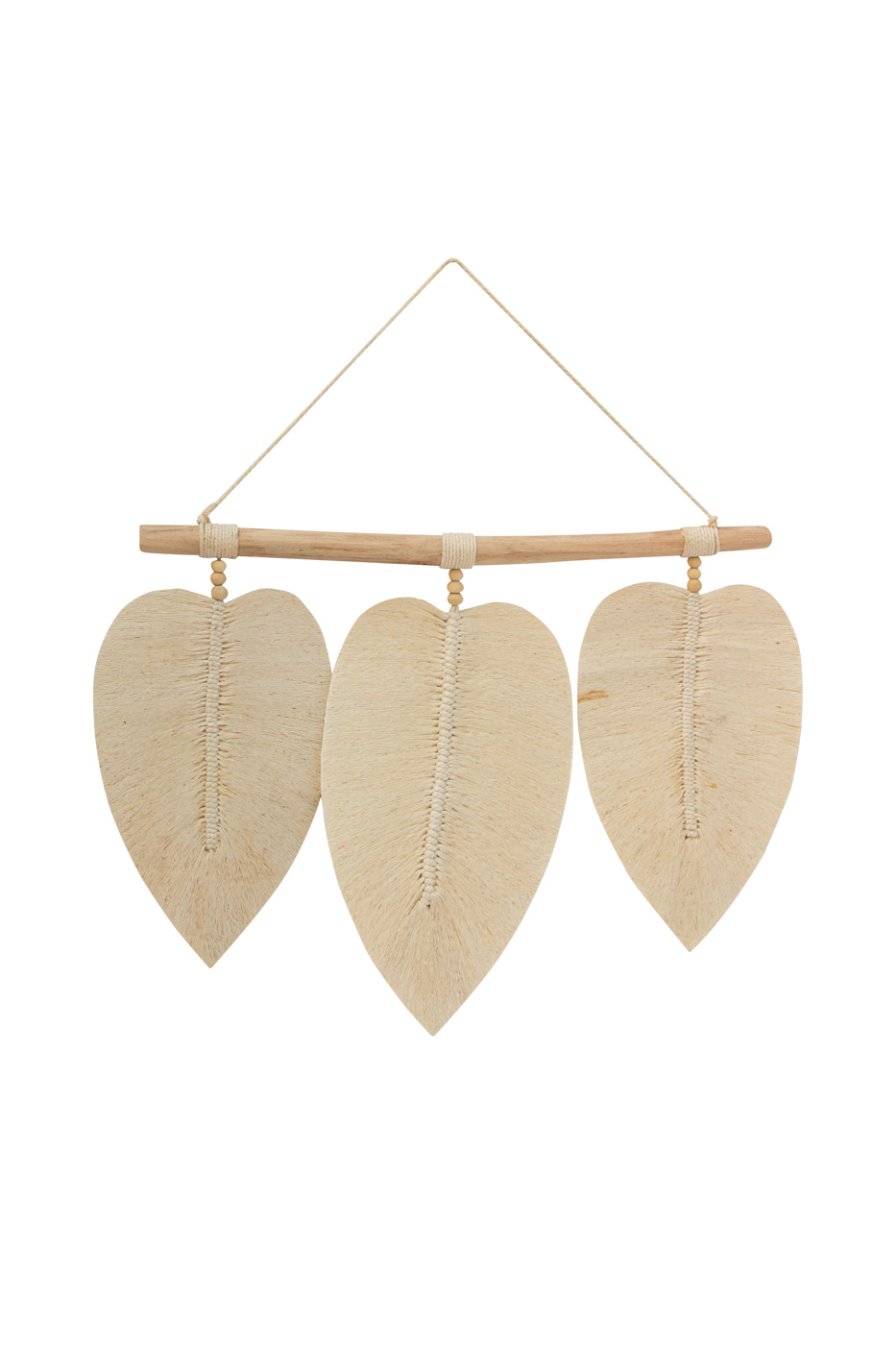 Decorative hanging cotton leaves