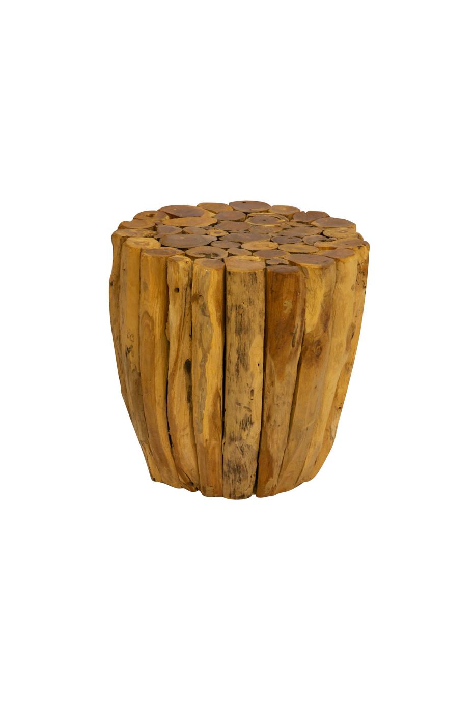 Tronco de madera teka natural,35 Cm