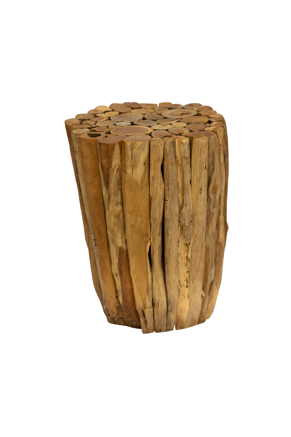 Tronco de madera teka natural- 45 Cm