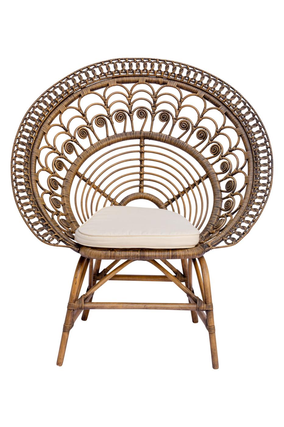 Peacock chair in rattan