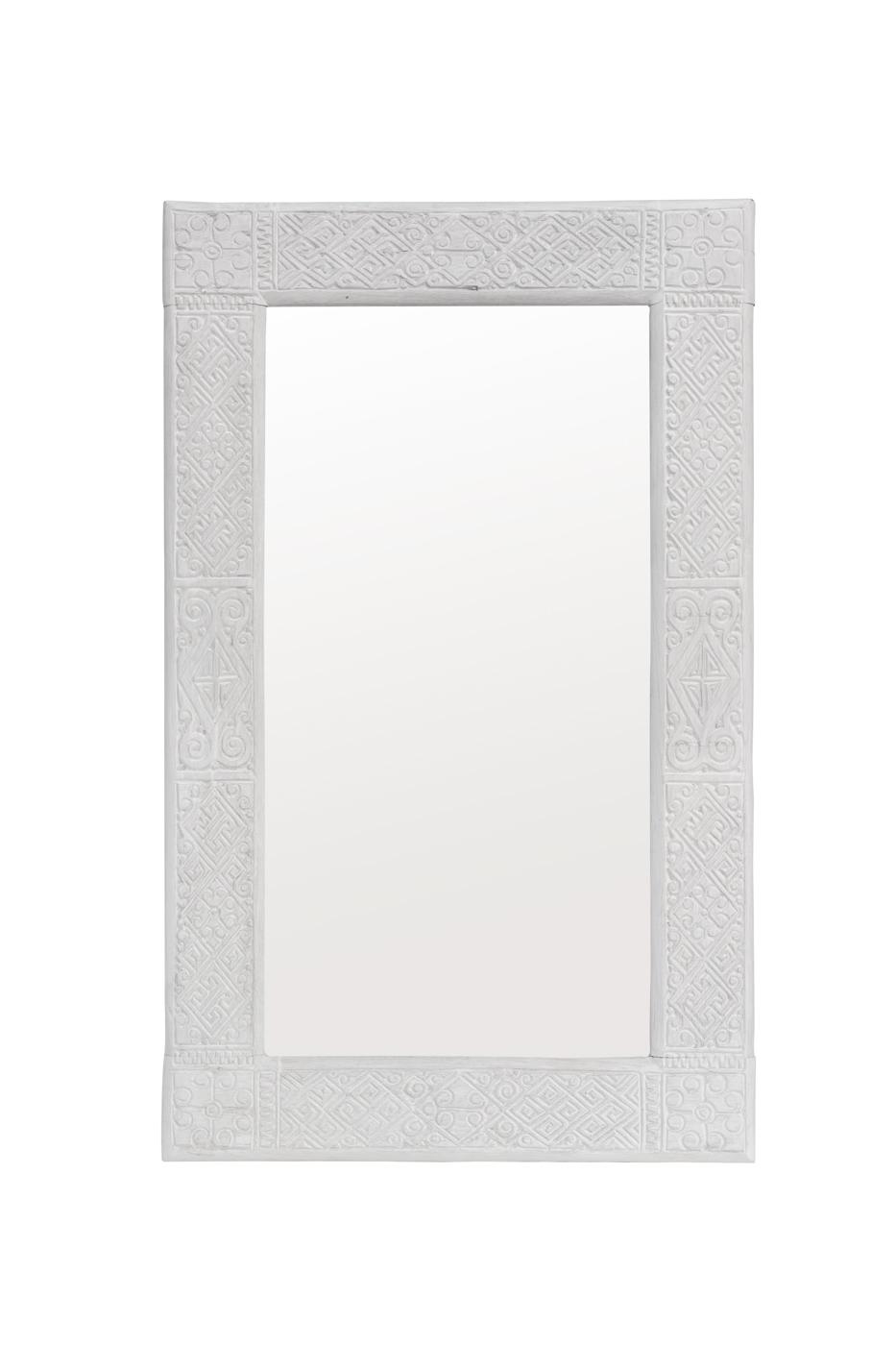Espejo tallado timor blanco