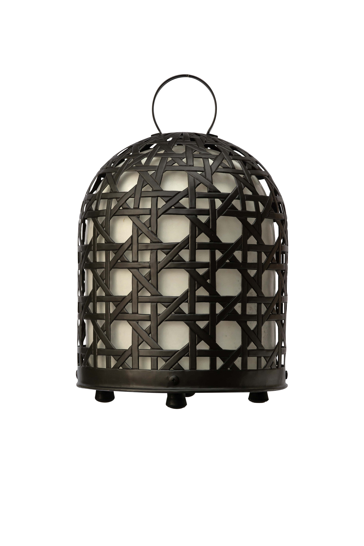 Lámpara jaula de gallo en bronce, 66 Cm