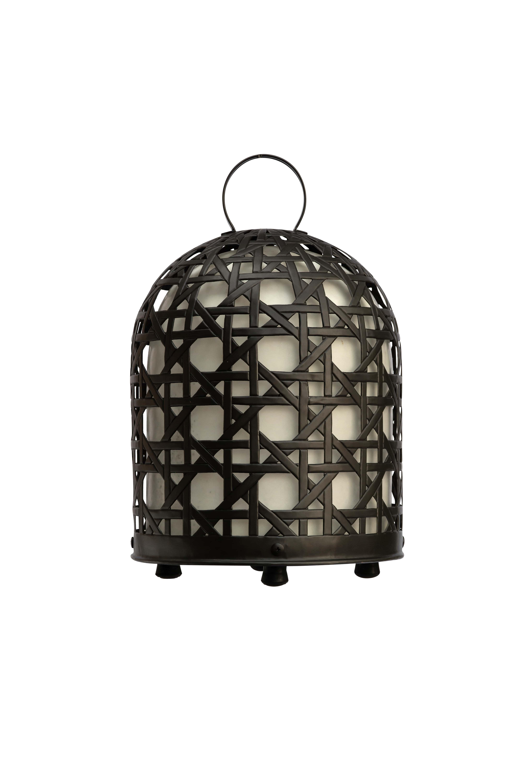 Lámpara jaula de gallo en bronce, 61 Cm