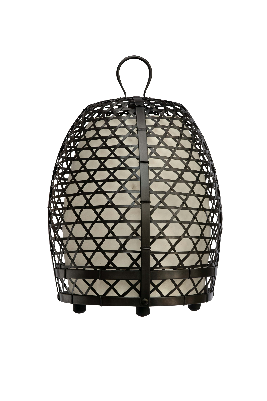 Lámpara jaula de gallo en bronce, 69 Cm