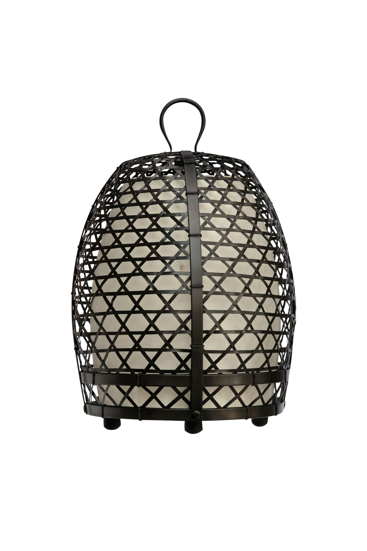Lámpara jaula de gallo en bronce, 59 Cm