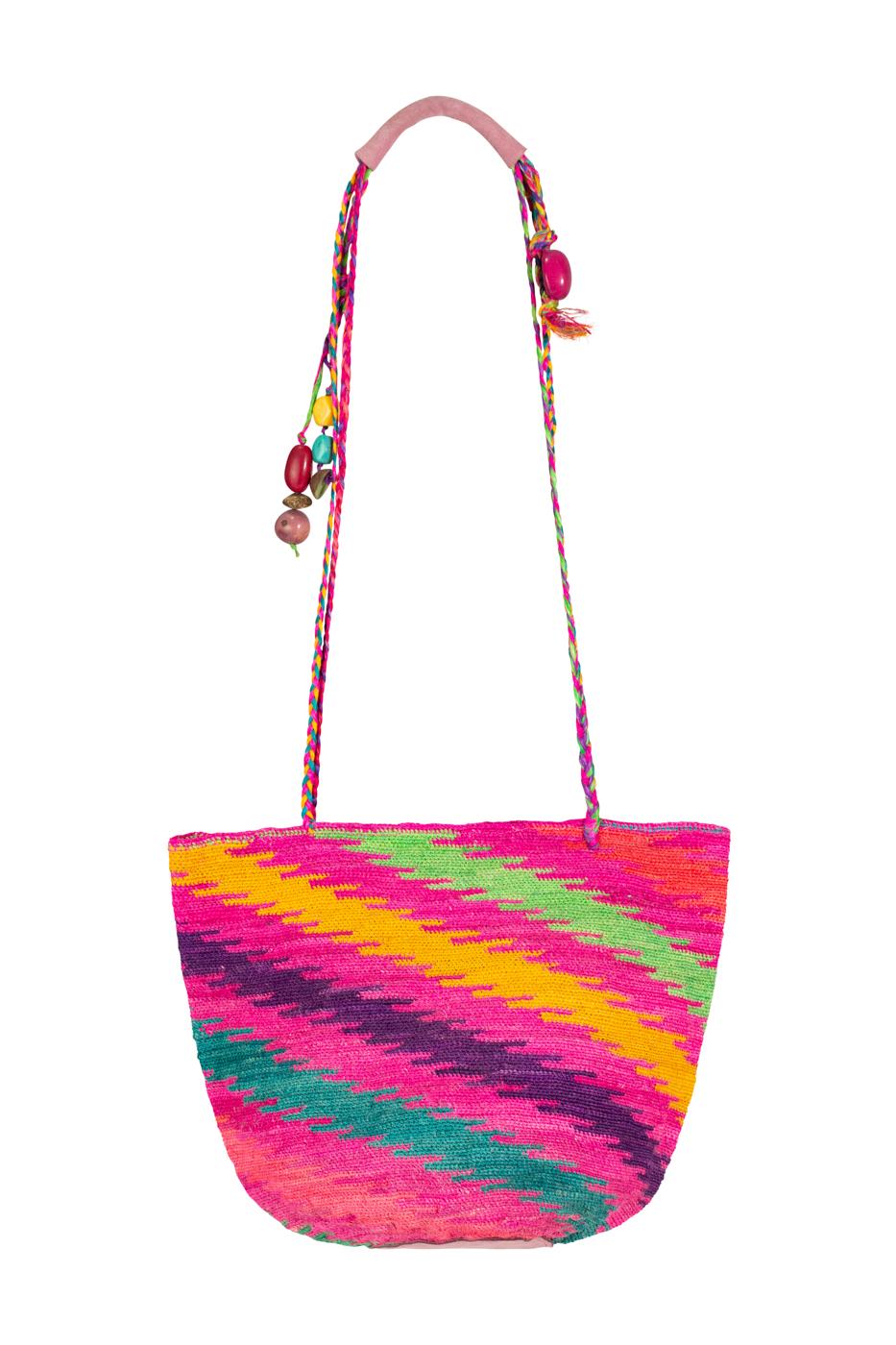 Mochila Shigra líneas multicolor