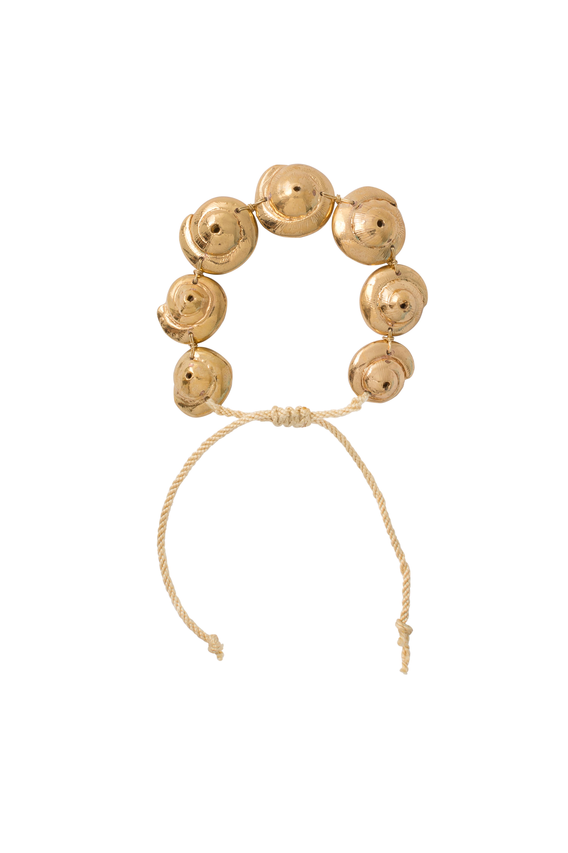 Seashell cumare bracelet gold