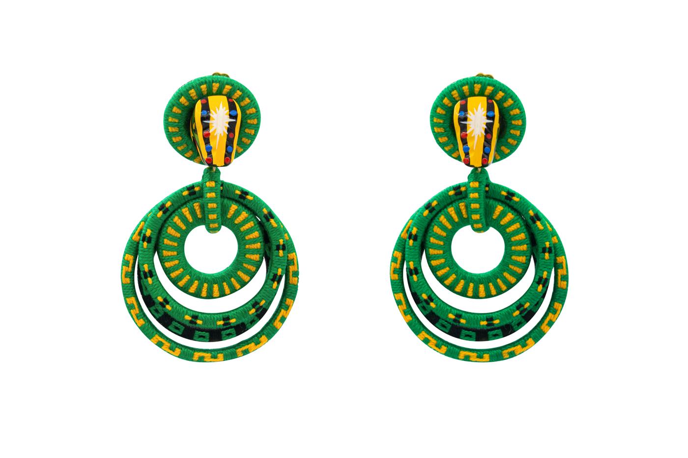 Garabato earring crocodile