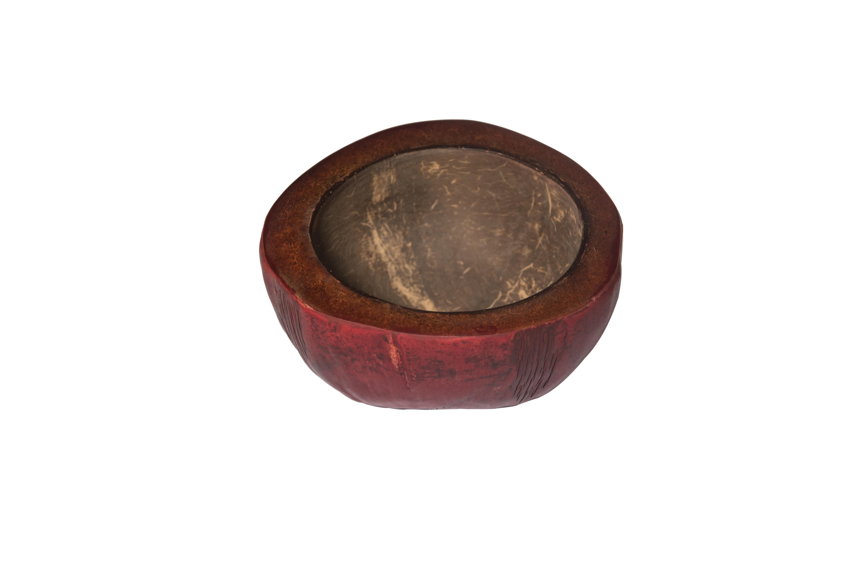 Red coconut ashtray