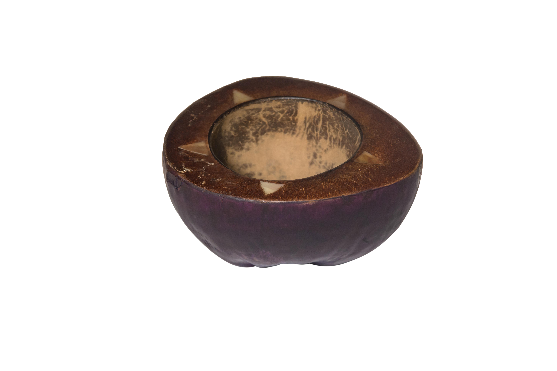 Purple coconut ashtray
