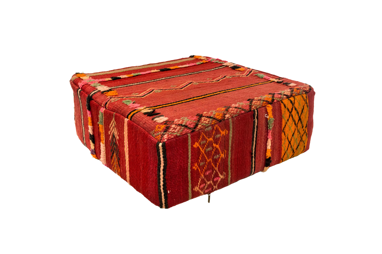 Puff Marroquí en tela de kílim