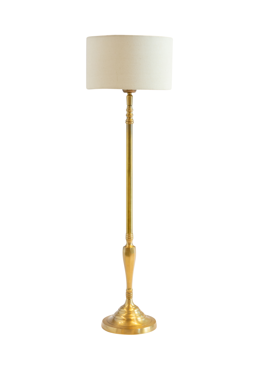Lámpara de mesa India en metal dorado