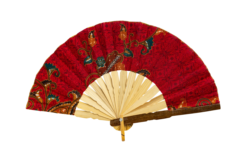 Red hand fan