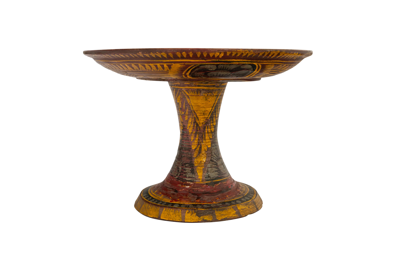 Plato de ofrenda en madera