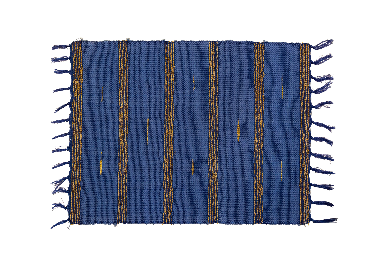 Individual rectangular bamboo azul