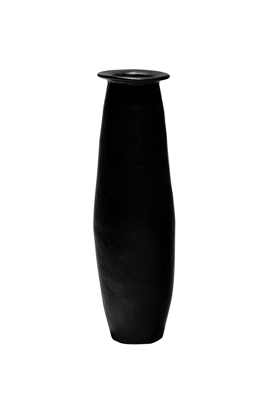Floor vase in black wood
