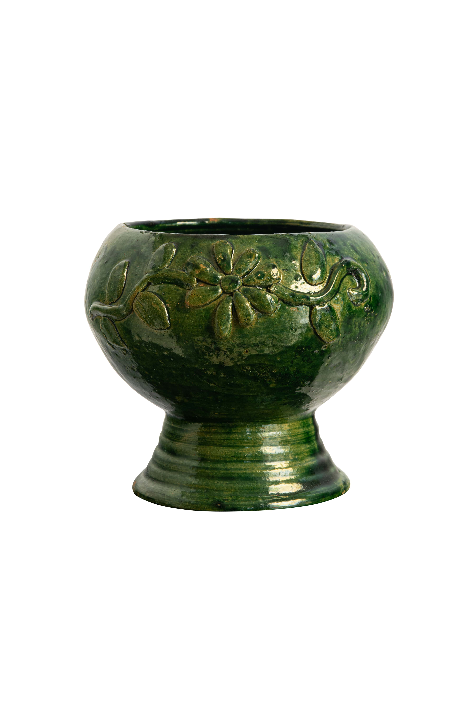 Green Mexican ceramic pot