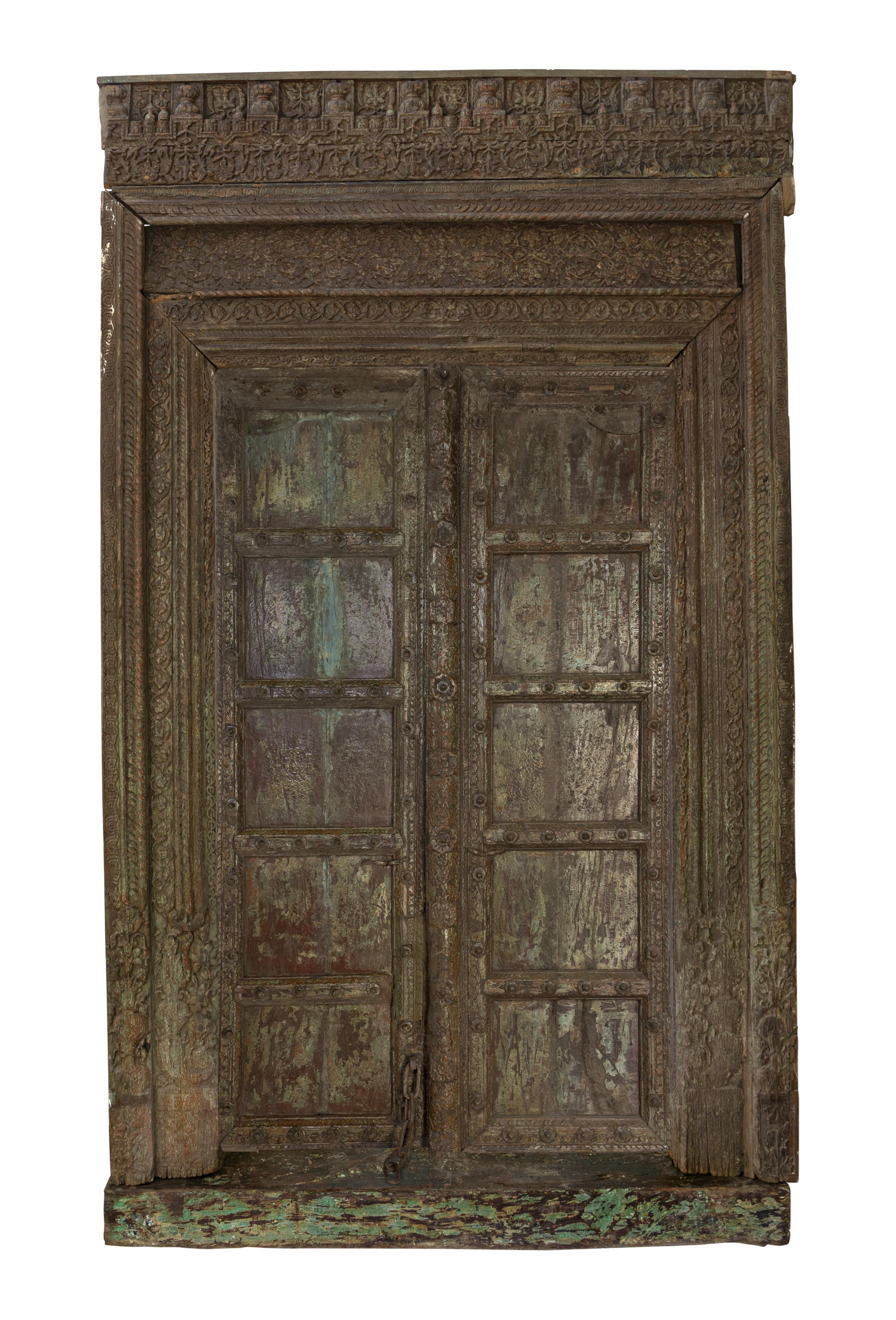 Antique Indian Haveli wooden door