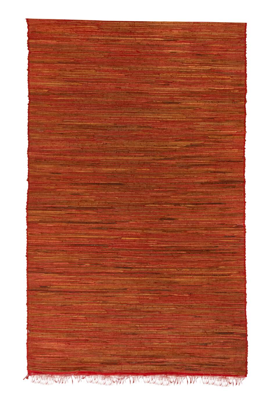 Terracotta bamboo mat