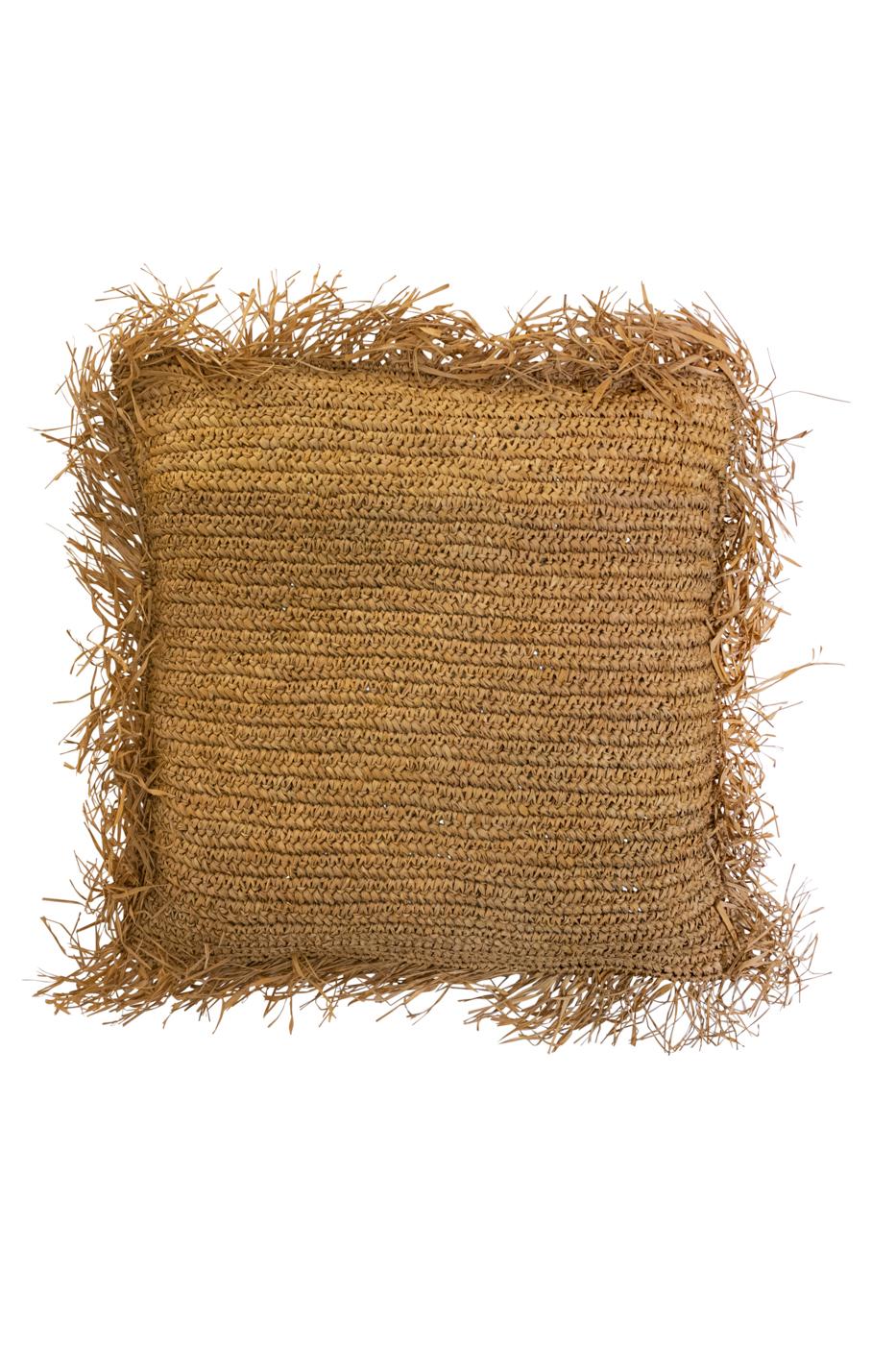 Natural fiber cushion