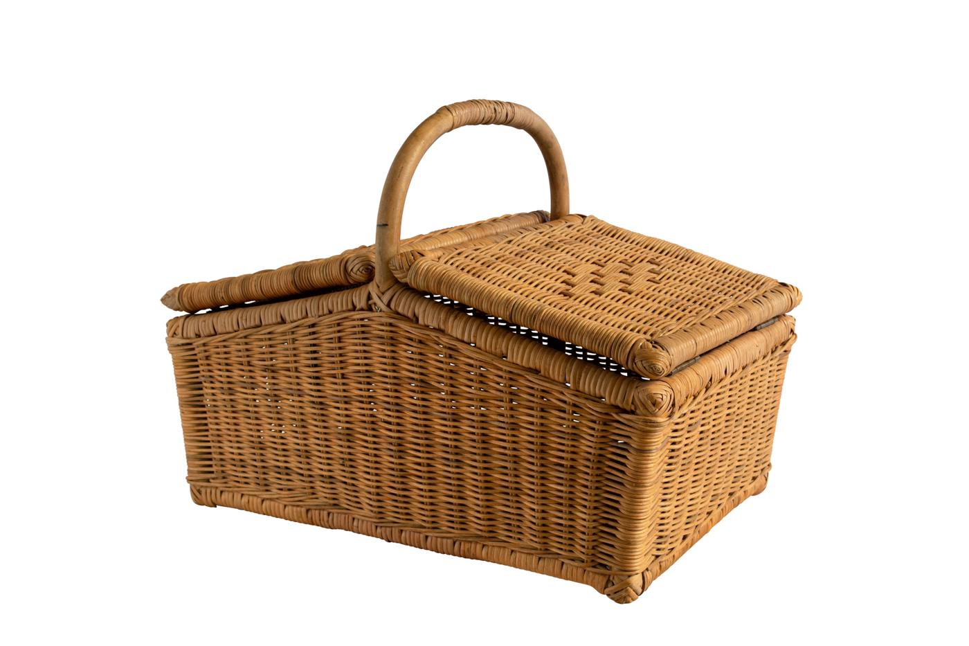 Cesta de picnic en rattan