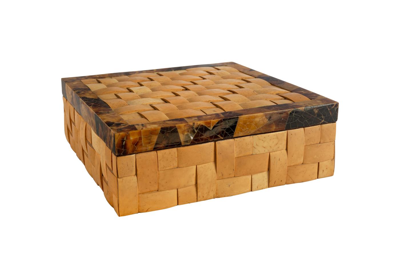 Caja trenzada en fibra de coco